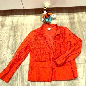 Chico's Orange Metallic Size2 Blazer/coat